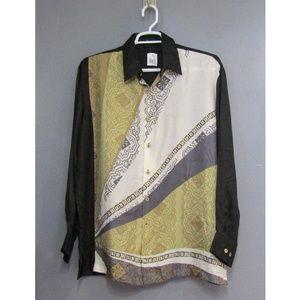 NEW Stacy Adams 100% Silk Candle Light Shirt Sz L